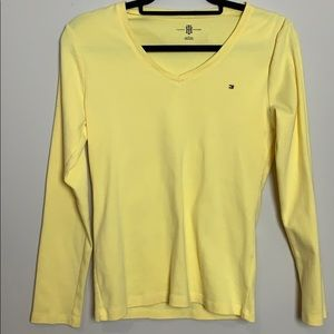 Tommy Hilfiger Yellow v neck